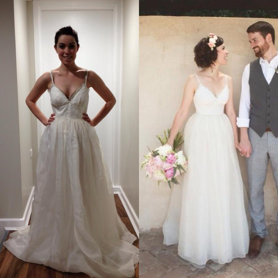 Before after wedding dress dress fric ideas for Bride dress after wedding